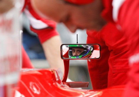 during practice for the Chinese Grand Prix in Shanghai, China, Friday, April 13, 2012. (AP Photo/Andy Wong)