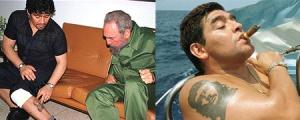 """Maradona e i suoi due tatuaggi """"politici"""""""