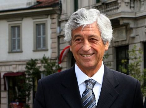 Gianni Rivera, ex calciatore del Milan e attuale Presidente(Foto Belosio/varese press)
