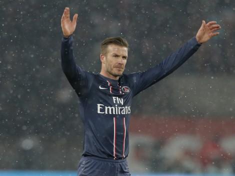 David Beckham, 38 anni, lascia il calcio dopo l'ennesimo campionato vinto, stavolta con il Paris Saint Germain. (Photo AP)