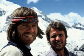 Messner e Habeler al via dell'impresa dell'8 maggio 1978 (Photo www.outdoor-team.at)