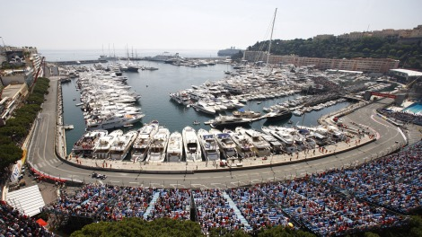 Il rettilineo del GP di Monaco, subito dopo l'uscita dal tunnel
