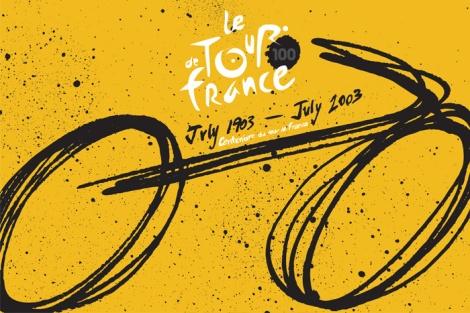 Poster di Shari Margolin dedicato alla 100esima edizione della Grande Boucle