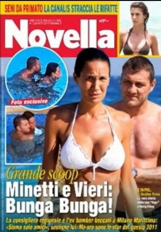 Quello con Nicole Minetti nel 2012 è stato solo uno degli ultimi flirt che ha visto Vieri protagonista (Foto Novella 2000)