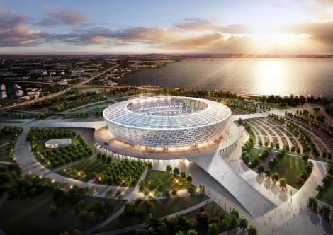 Lo Stadio Olimpico di Baku, con i suoi 68000 spettatori il centro dei Giochi Olimpici Europei