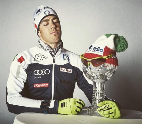 Federico Pellegrino con la Coppa del Mondo Sprint: è il primo non scandinavo a vincerla