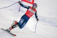 Bode Miller su un solo sci ai Mondiali 2003 (foto Jonathan Selkowitz)